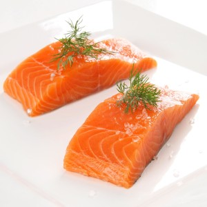 Salmon is a great source of omega-3 which promotes beard growth