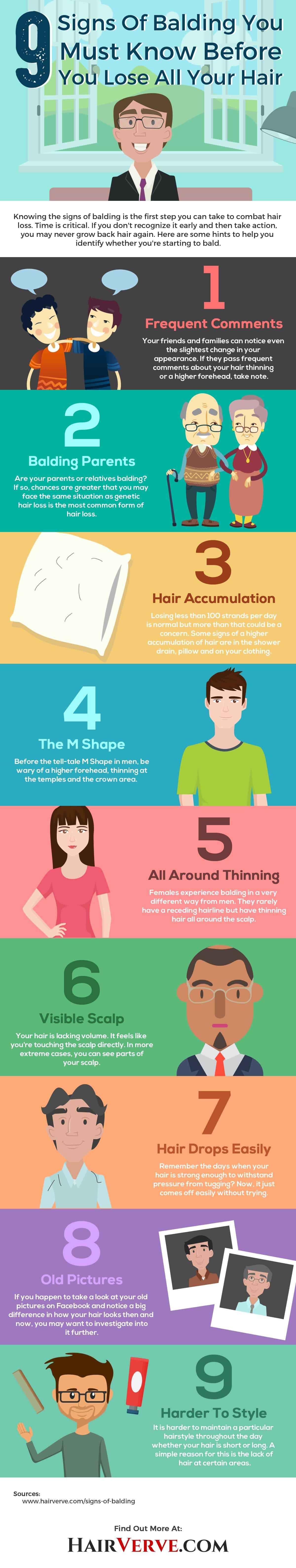 9 signs of balding in men