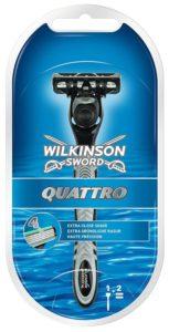 Wilkinson Sword Systems Quattro Razor with 2 Blades